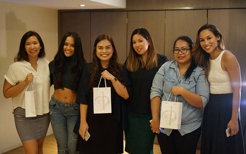 Three lucky winners with Sheena Vera Cruz, Angel Jones, and Monique Jaramillo-Seneres at B.E.C.O.M.E. Event.