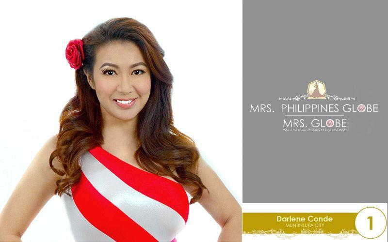 darlene conde mrs philippines globe 2016