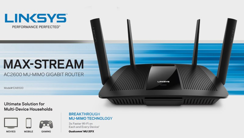 maxstream mumimo router linksys