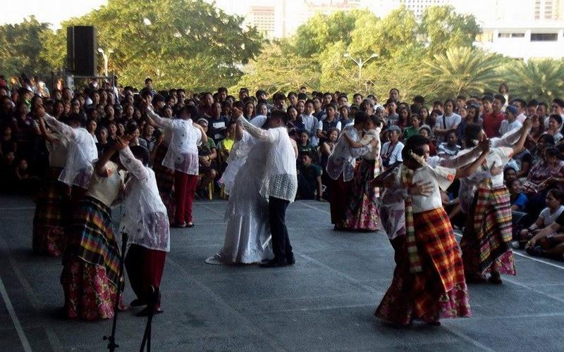 Sining Palawan Dance Troupe of Palawan State University showcasing a wedding folk dance. Photo by Jj Ibarreta