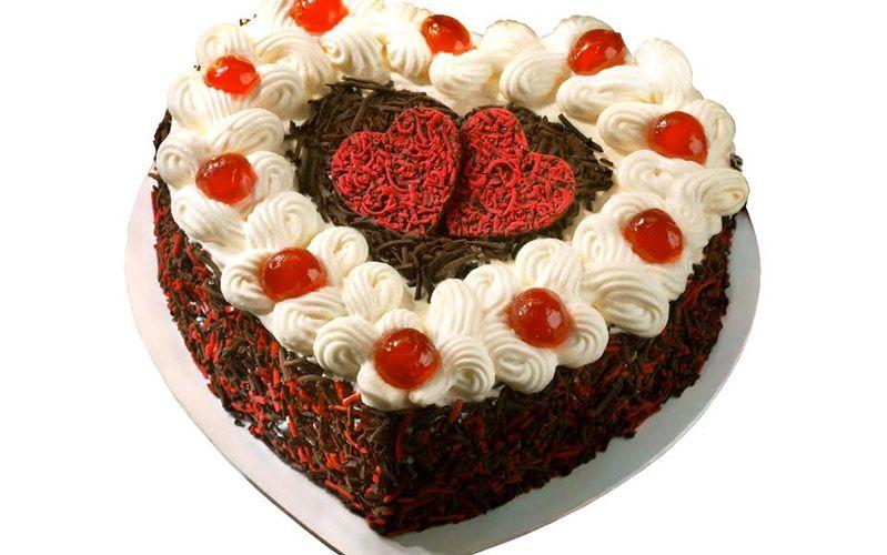 red ribbon cake