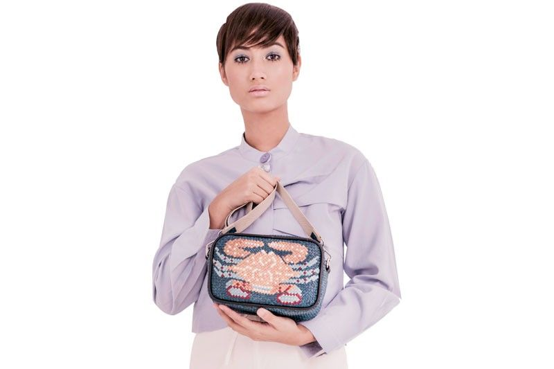 Lara bag with crab weave