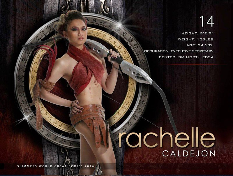 Rachelle Caldejon slimmers world great bodies 2016