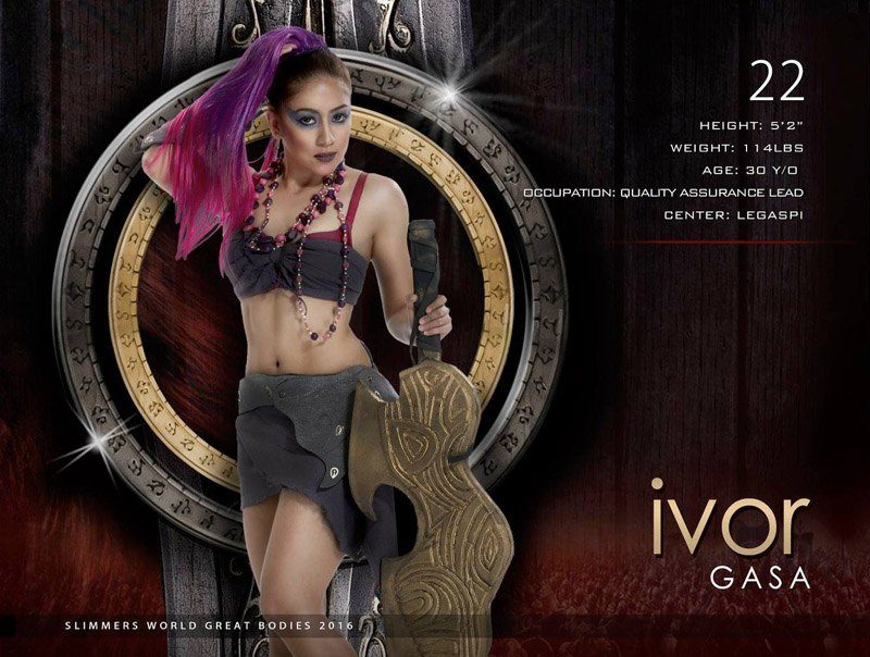 Ivor Gasa slimmers world great bodies 2016